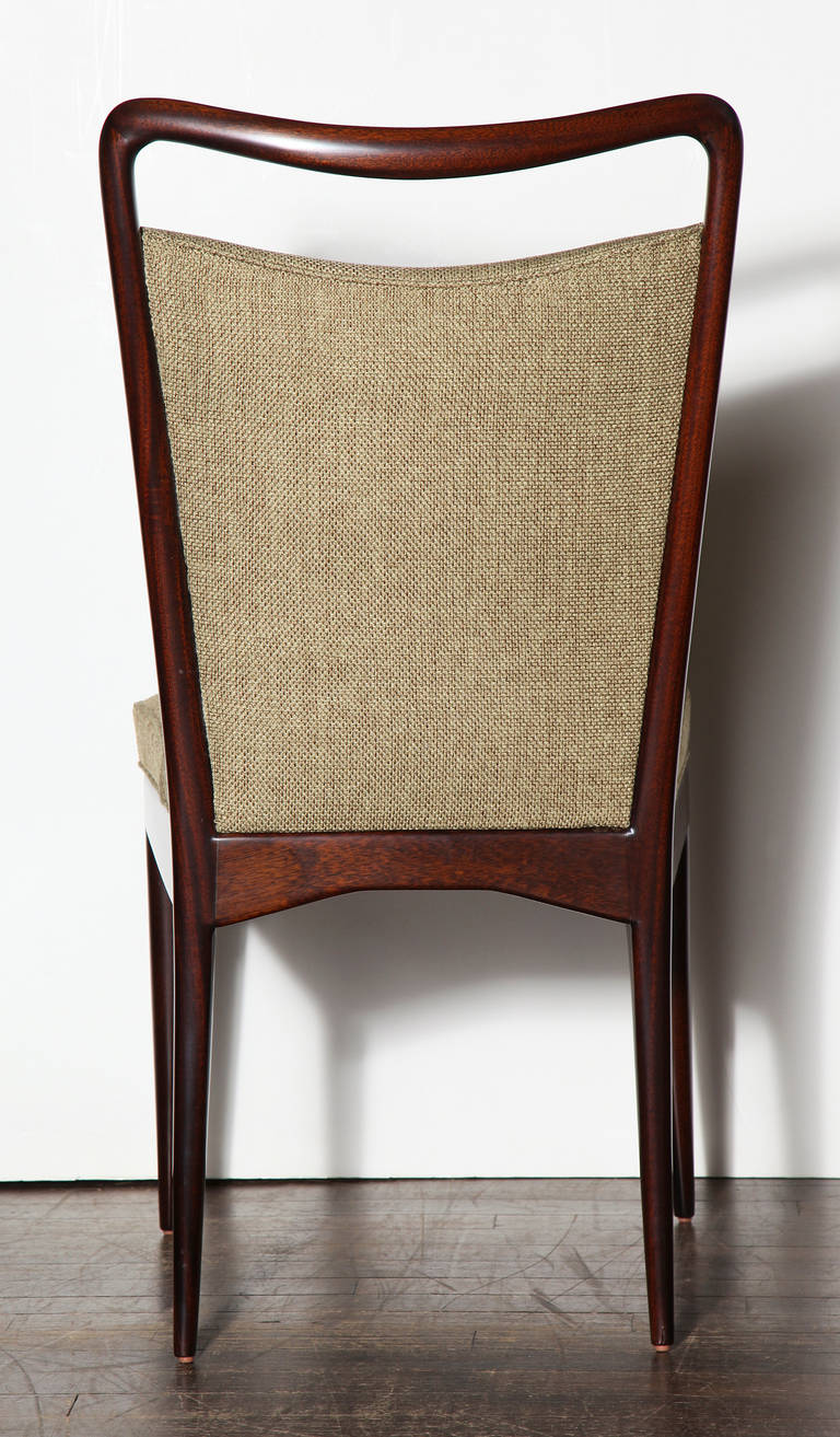 Set of six dining chairs by isa at 1stdibs for Isa arredamenti