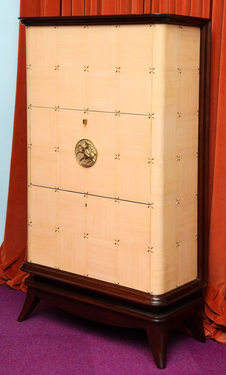 Art Deco Maurice Jallot Bar Cabinet