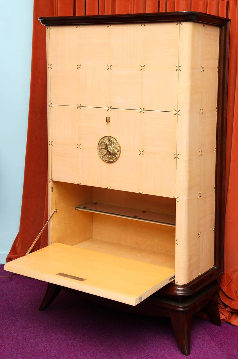 French Maurice Jallot Bar Cabinet