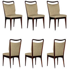 Set of Six Dining Chairs by Isa