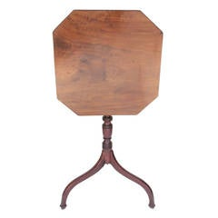 Mahogany Octagonal Tilt-Top End Table