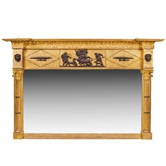19th Century Regency Gilt Overmantel Mirror