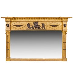 19th Century Regency Gilt Overmantel Mirror