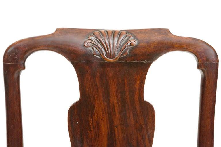 Late 18th Century Pair of 18th Century Georgian Mahogany Slipper Chairs For Sale