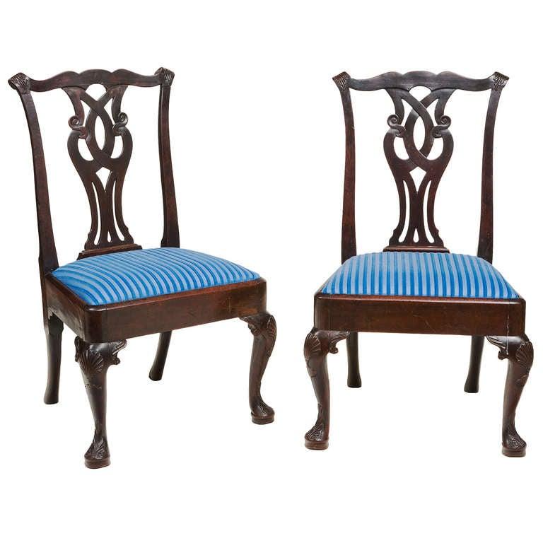 Pair of 18th Century Irish Side Chairs