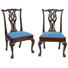 Pair of 18th Century Irish Side Chairs
