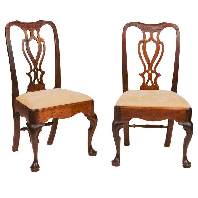 Pair of 18th Century Georgian Mahogany Side Chairs For Sale