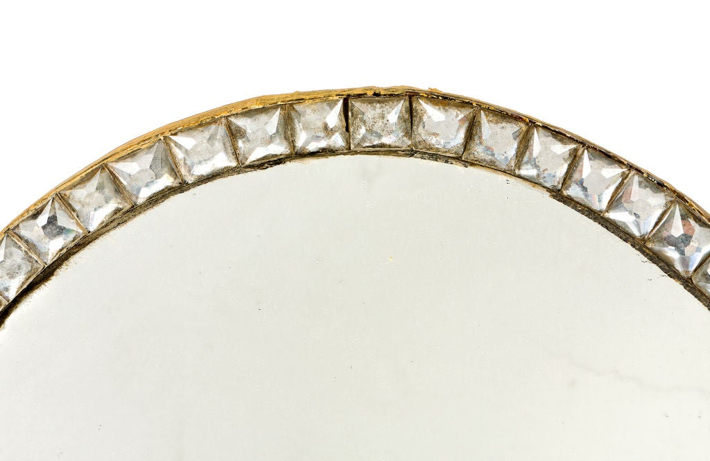 18th Century Irish Clear Glass Framed Oval Mirror.