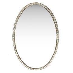 18th Century Irish Clear Glass Framed Oval Mirror