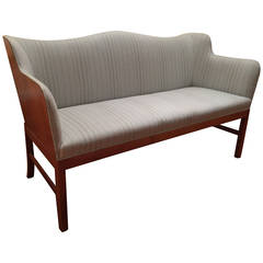 Loveseat by Ole Wanscher, Mahogany