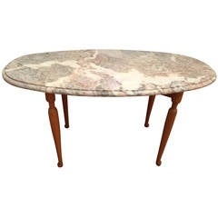 Occasional Table with marble top by Josef Frank, ca. 1940