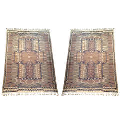 Pair of Flat-Weave Carpets by Barbro Nilsson for MNF, Sweden