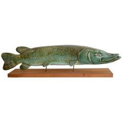 Ceramic fish sculpture by Sven Weisfelt
