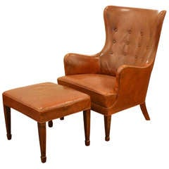 Lounge Chair and Ottoman by Frits Henningsen