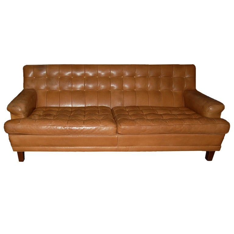 Leather sofa by Arne Norrell ca 1960 s For Sale at 1stdibs
