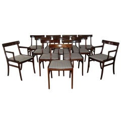 Set of 12 Mahogany Dining Chairs by Ole Wanscher