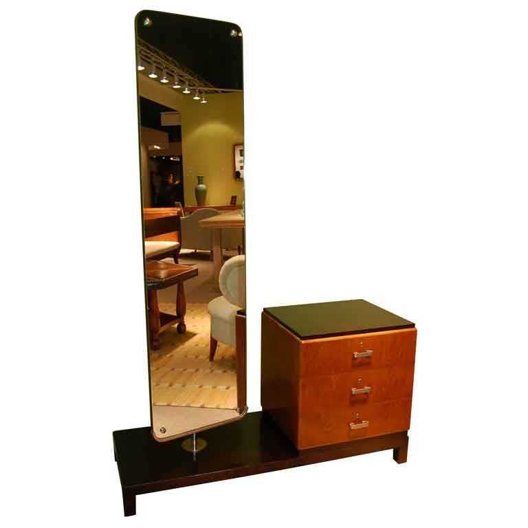dressing table and swivel mirror by axel einal hjorth at 1stdibs