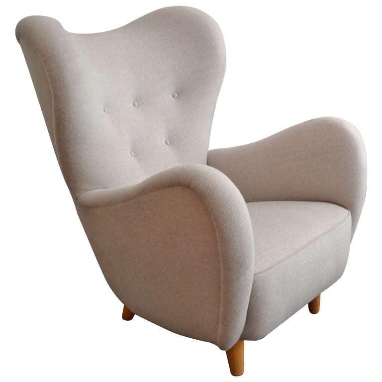 Sculptural Lounge Chair Sweden circa 1940 at 1stdibs