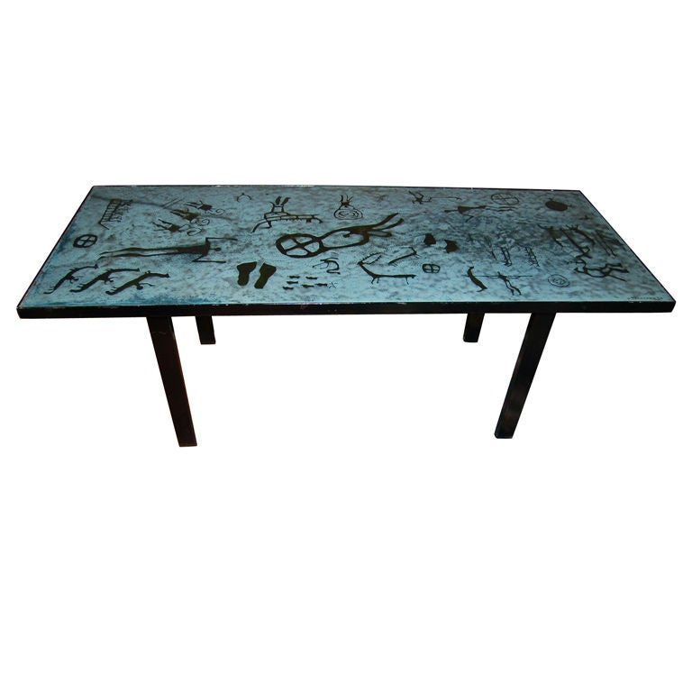 Enamel Tray Coffee Table: Coffee Table In Enamel By P. Torneman For Sale At 1stdibs