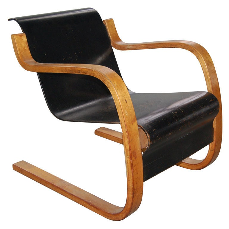 Cantilever lounge chair by alvar aalto at 1stdibs for Alvar aalto chaise