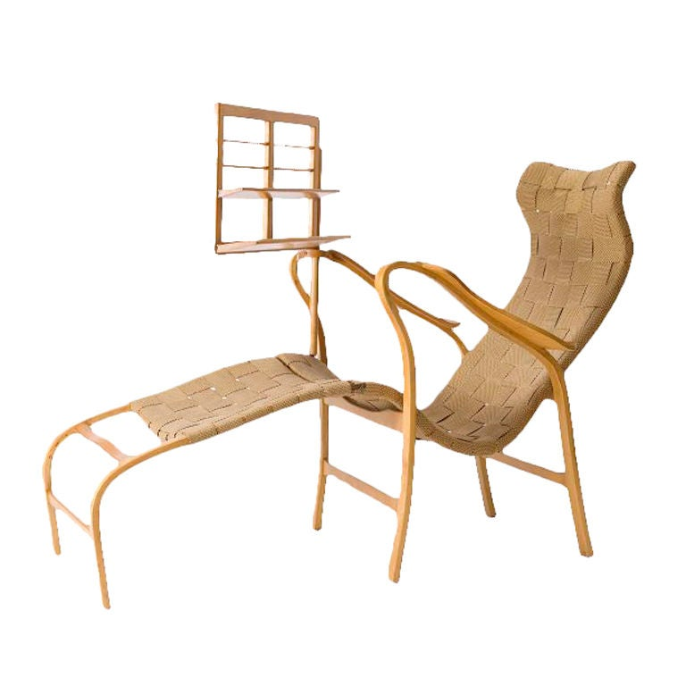 Lounge Chair With Reading Stand By Gustaf Axel Berg At 1stdibs