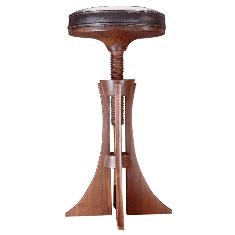 Adjustable Stool by Grete Jalk For Sale