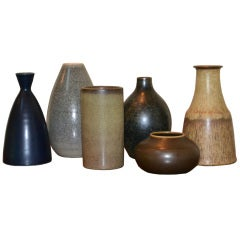 "Grouping of ""Tobo"" Ceramic vases by Ingrid and Erich Triller"