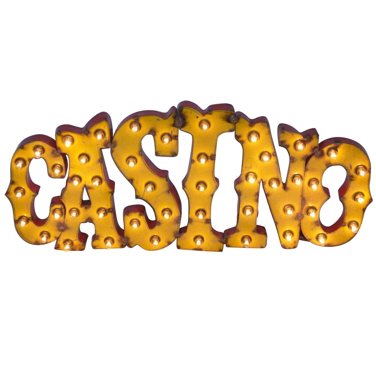 Antique Lighted Casino Sign At 1stdibs