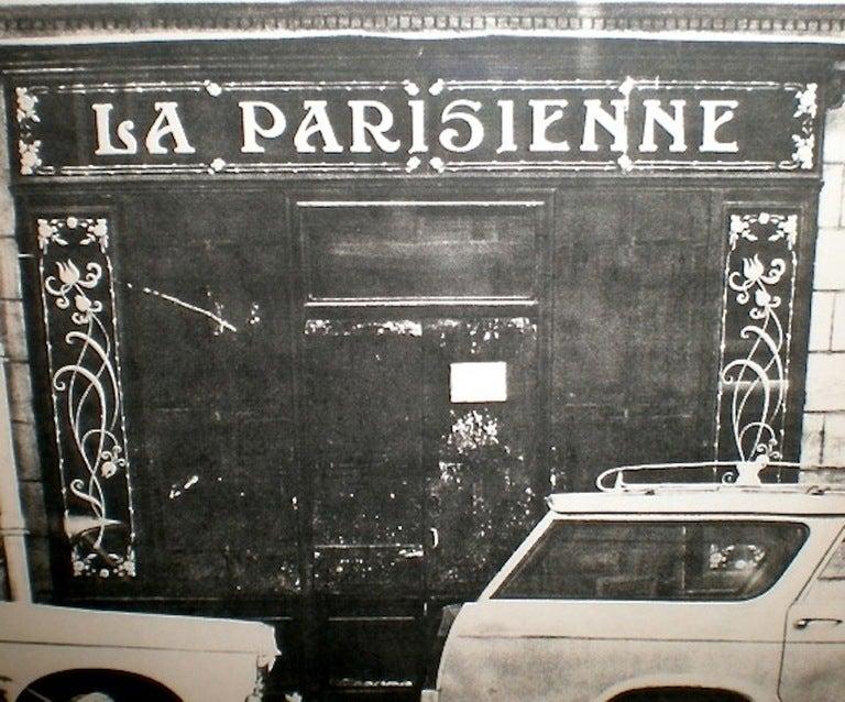 iconic la parisienne shop sign for sale at 1stdibs. Black Bedroom Furniture Sets. Home Design Ideas