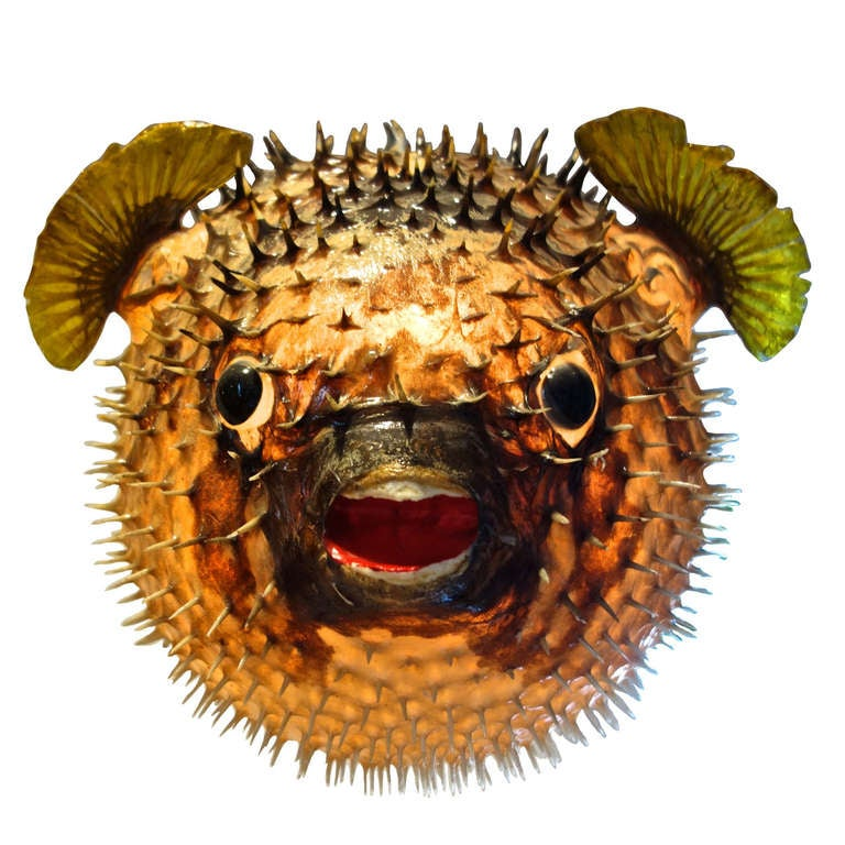 Giant Vintage Puffer Fish Chandelier At 1stdibs