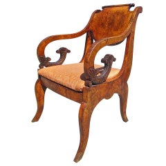 Karelian Birch Russian Side Chair