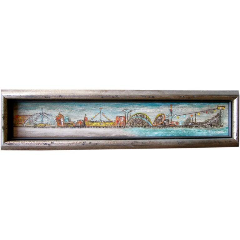 Santa monica pier painting at 1stdibs for Cox paint santa monica
