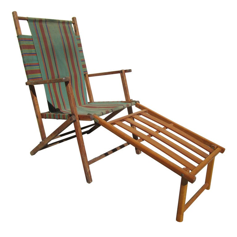 Adjustable Lounge Chair With Foot Rest At 1stdibs