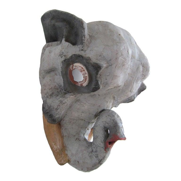 paper mache elephant mask - photo #1