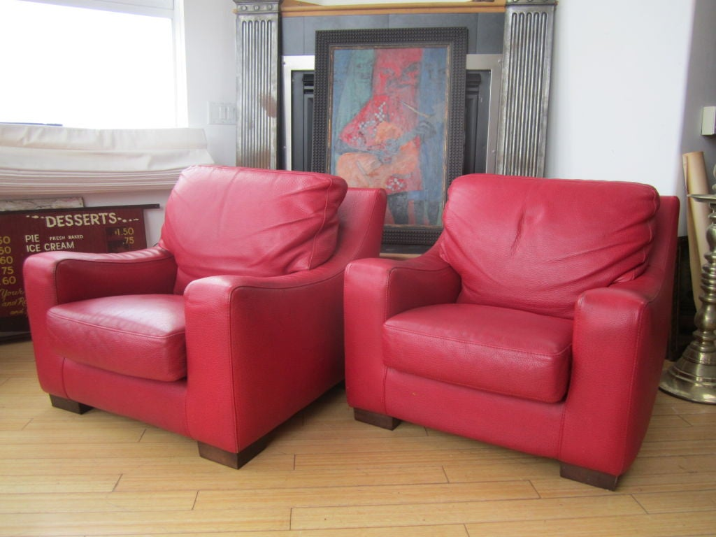 vintage roche bobois leather chairs at 1stdibs. Black Bedroom Furniture Sets. Home Design Ideas