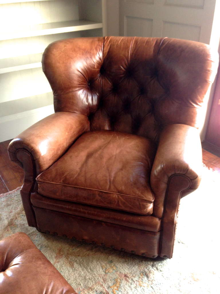 vintage ralph lauren writer s chair and ottoman at 1stdibs