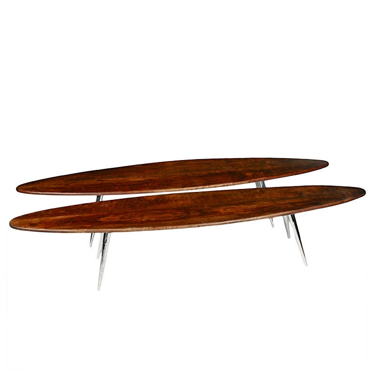 Pair Of Mid Century Mexican Surfboard Tables At 1stdibs