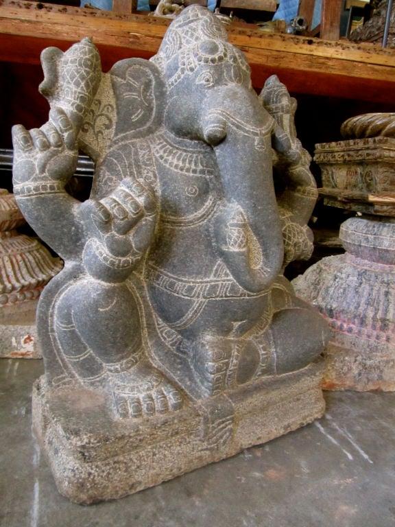 Carved stone ganesh at stdibs