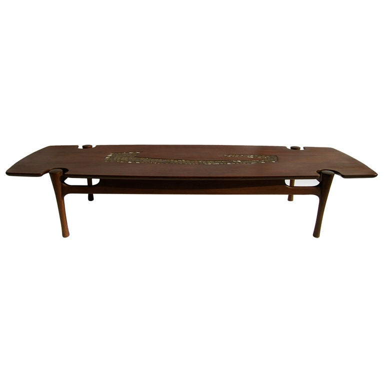 Mid Century Mexican Mosaic Inlay Coffee Table At 1stdibs