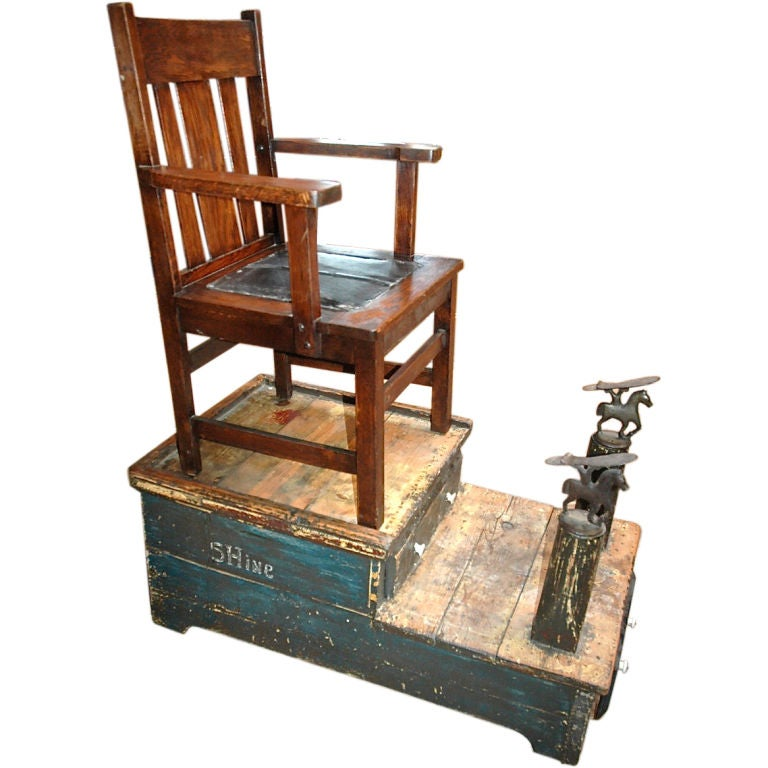 Shoe Shine Stand At 1stdibs