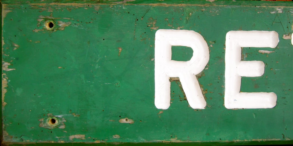 American Large Painted Retreat Sign