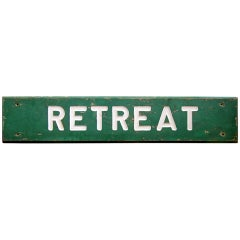 Large Painted Retreat Sign