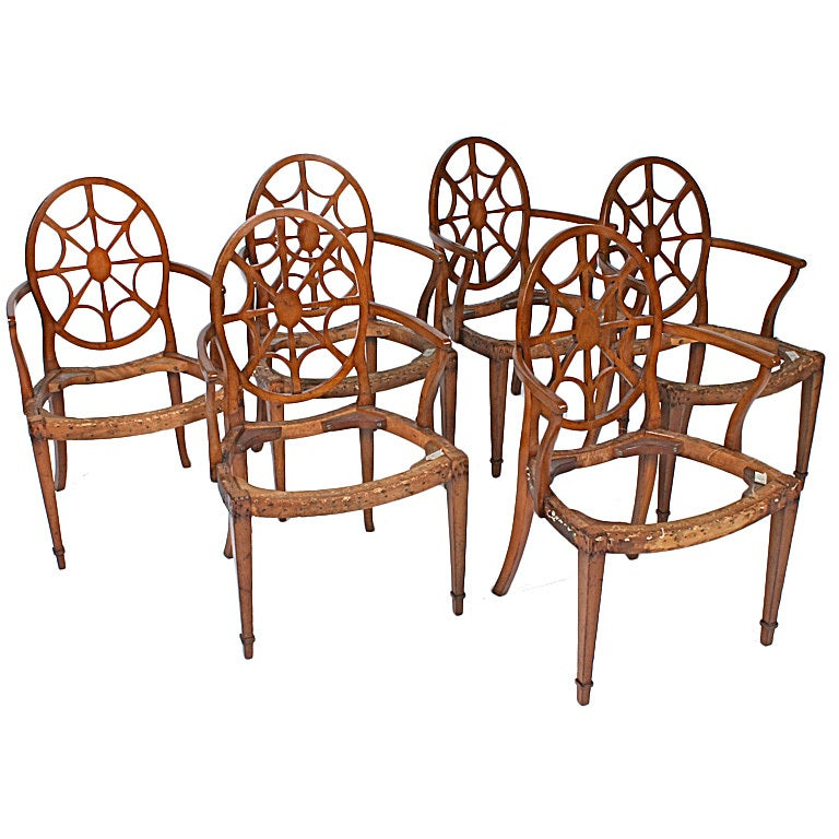 Exceptional Set Of Six Spider Back Chairs At 1stdibs