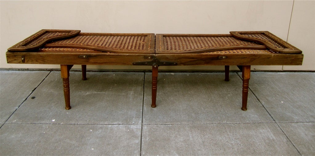 20th Century Collapsible and Portable Campaign Bench and Lounge
