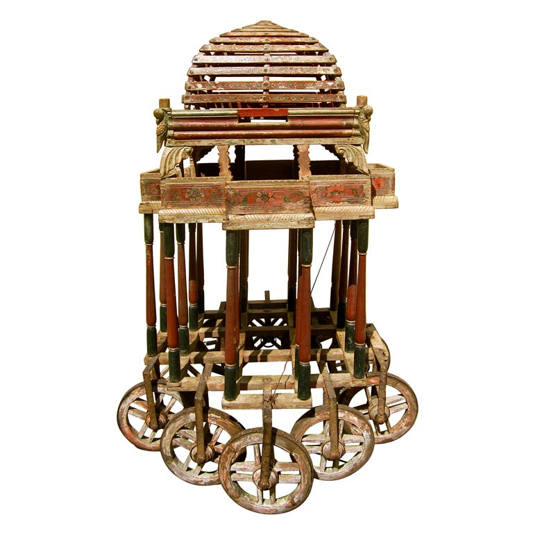 Indian Bird Seller S Cart Or Drinks Trolley At 1stdibs