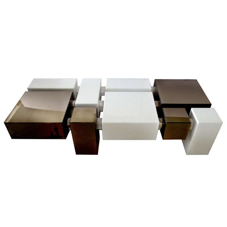 cubes lucite coffee table at 1stdibs