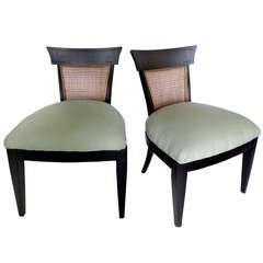 "Pair Asian Modern ""Pagoda"" Chairs"