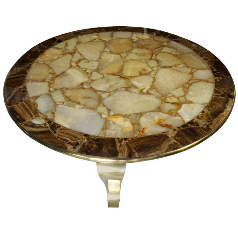Brass Onyx Coffee Table At 1stdibs