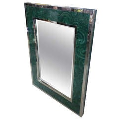 Malachite and Chrome Mirror