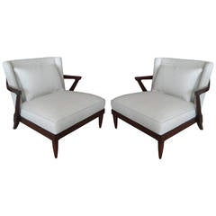 Pair of Parzinger Style Club Chairs